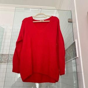 Oversized Red Sweater from h&m! size S (runs big)